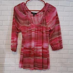 Express stripped blouse see through size M